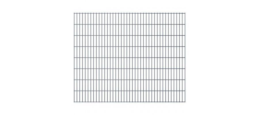 2D panel til havehegn, 2.008x1.630 mm, gråt