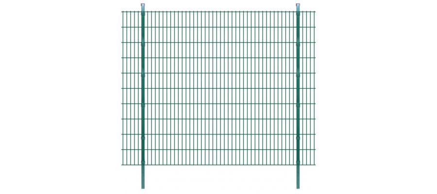 2D Havehegnspaneler & Pæle 2008x2030 mm 36 m Grøn