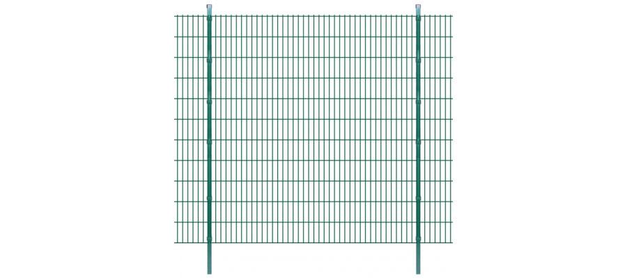 2D Havehegnspaneler & Pæle 2008x2230 mm 6 m Grøn