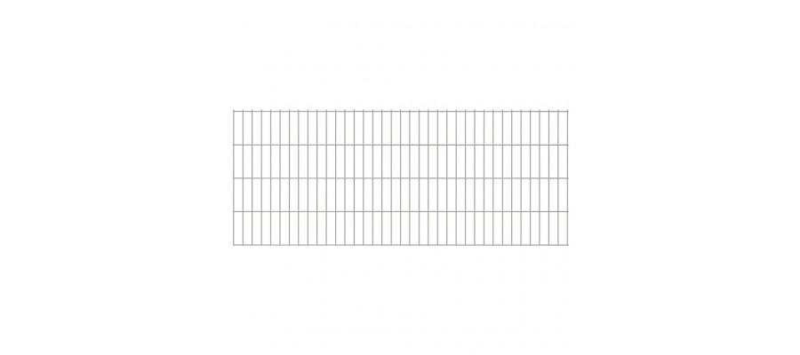 2D paneler til havehegn, 2.008x830 mm, 32 m, sølvfarvede