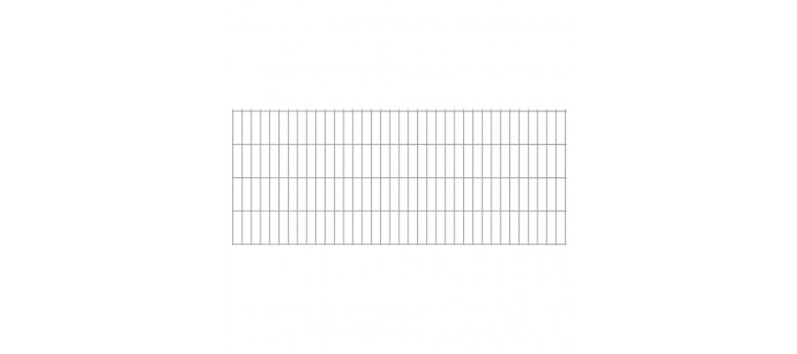 2D paneler til havehegn, 2.008x830 mm, 46 m, sølvfarvede