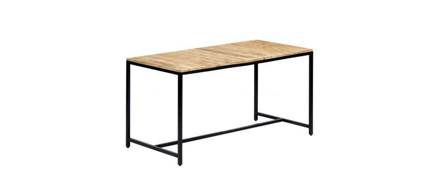Spisebord 140 x 70 x 75 cm massivt ru mangotræ
