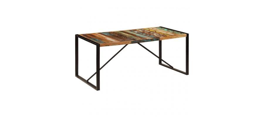 Spisebord 180 x 90 x 75 cm massivt genanvendt træ