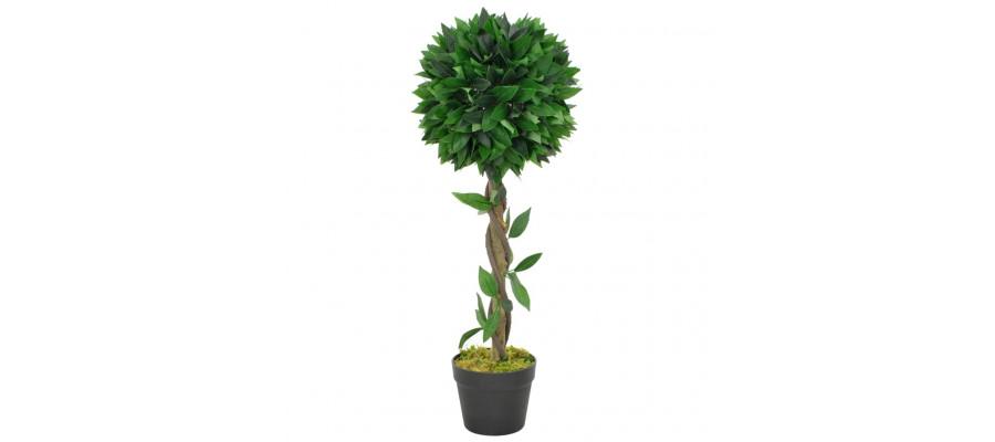 Kunstig laurbærplante med potte 70 cm grøn