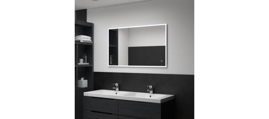 Badeværelsesspejl LED m. touch 100 x 60 cm