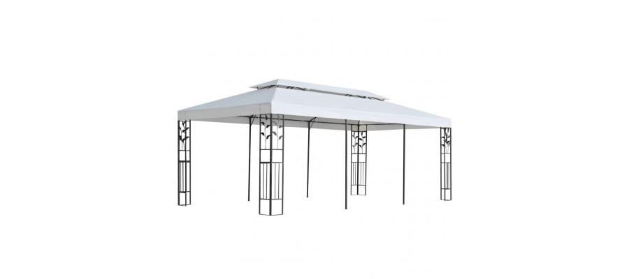 Pavillon 3 x 6 m hvid