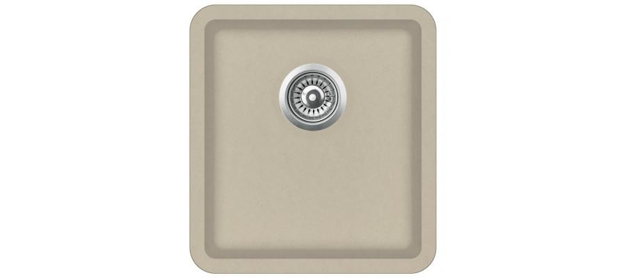 Køkkenvask granit enkelt vask beige