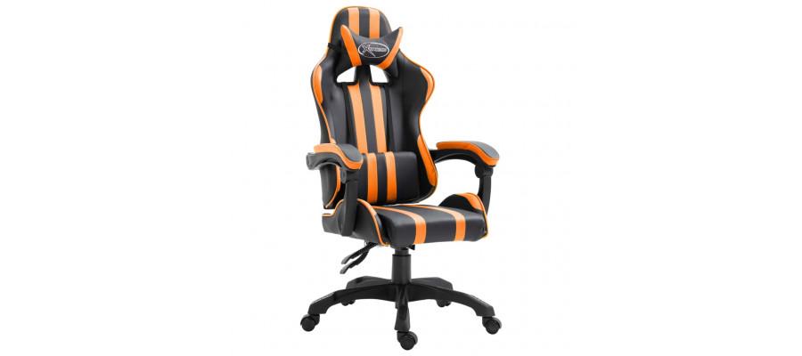 Gamingstol kunstlæder orange