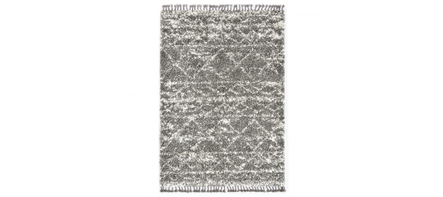 Shaggy tæppe Berber PP 140 x 200 cm grå og beige