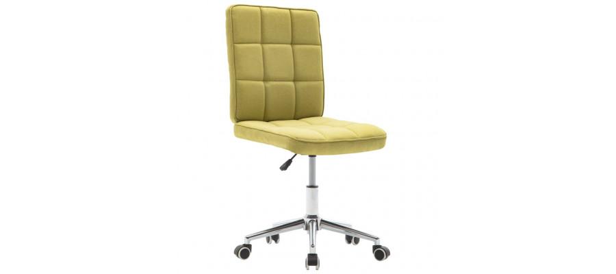 Spisebordsstol stof grøn