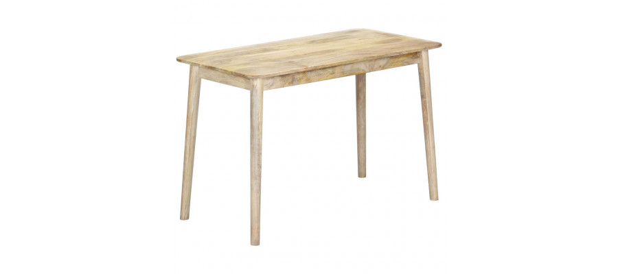 Spisebord 115 x 60 x 76 cm massivt mangotræ