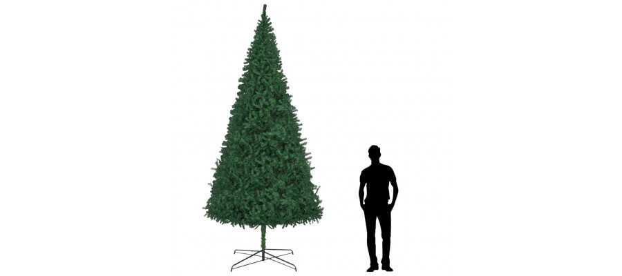 Kunstigt juletræ 400 cm grøn