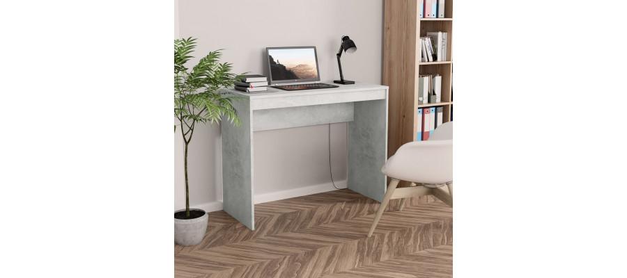 Skrivebord 90 x 40 x 72 cm spånplade betongrå