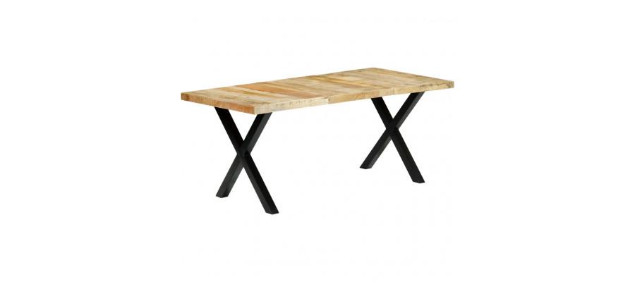 Spisebord 180 x 90 x 76 cm massivt mangotræ