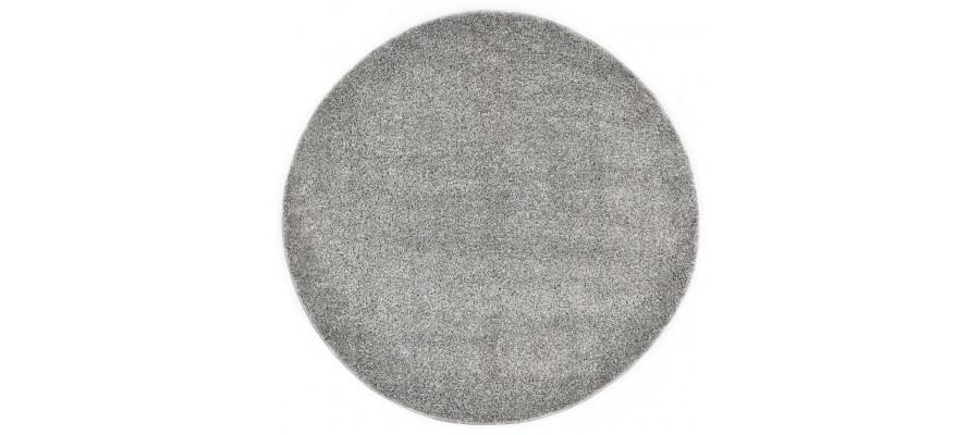 Shaggy gulvtæppe 160 cm grå