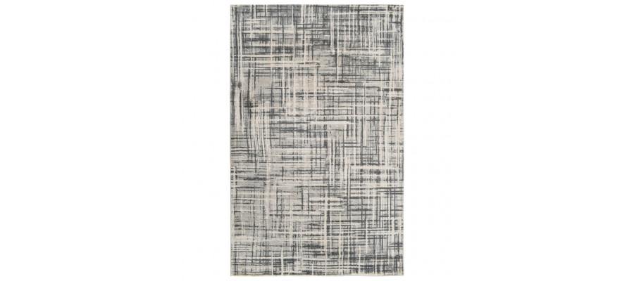 Gulvtæppe med tryk 160 x 230 cm polyester beige