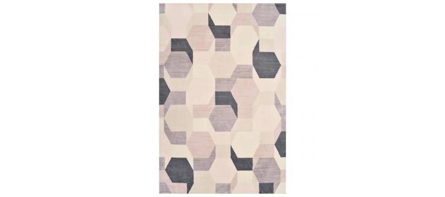 Gulvtæppe med tryk 80 x 150 cm polyester flerfarvet