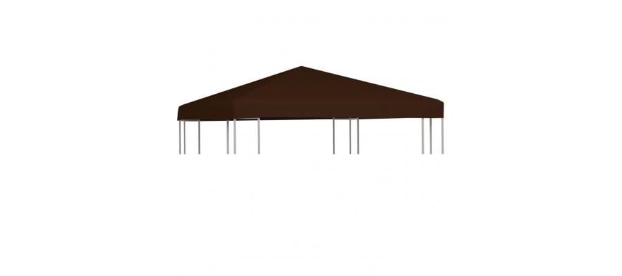 Pavillontopdække 310 g/m² 3 x 3 m brun