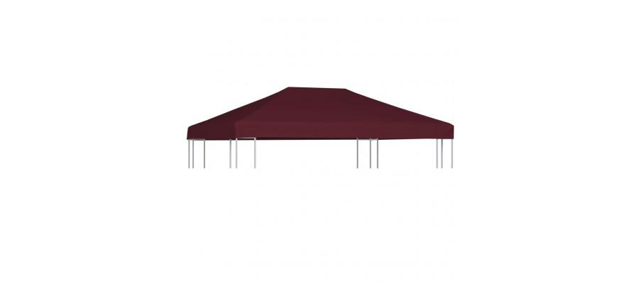 Pavillontopdække 310 g/m² 3 x 4 m bordeauxfarvet