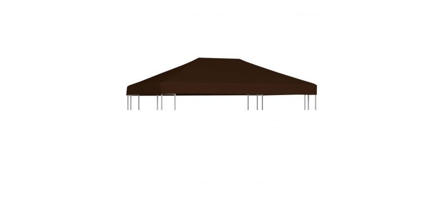 Pavillontopdække 310 g/m² 3 x 4 m brun