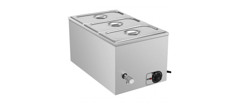Au Bain Marie-madvarmer 1500 W GN 1/3 rustfrit stål