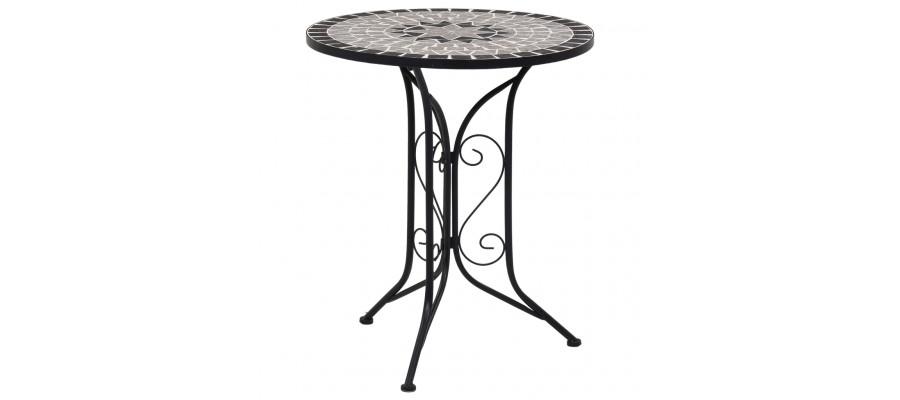 Bistrobord med mosaikdesign 61 cm keramisk grå