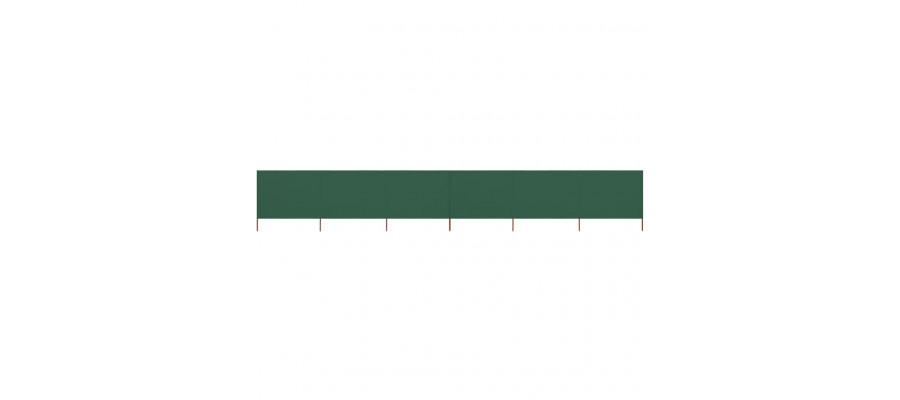 6-panels læsejl 800x120 cm stof grøn