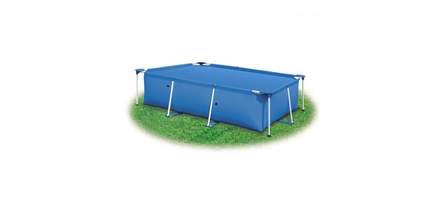 Poolovertræk 400 x 200 PE blå