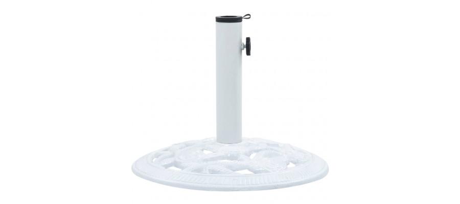 Parasolfod 9 kg 40 cm støbejern hvid