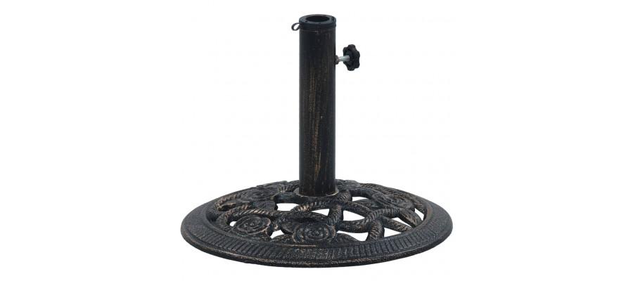 Parasolfod 9 kg 40 cm støbejern sort og bronze