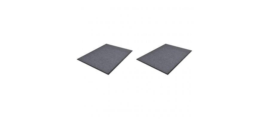 Dørmåtter 2 stk. 90 x 60 cm PVC grå