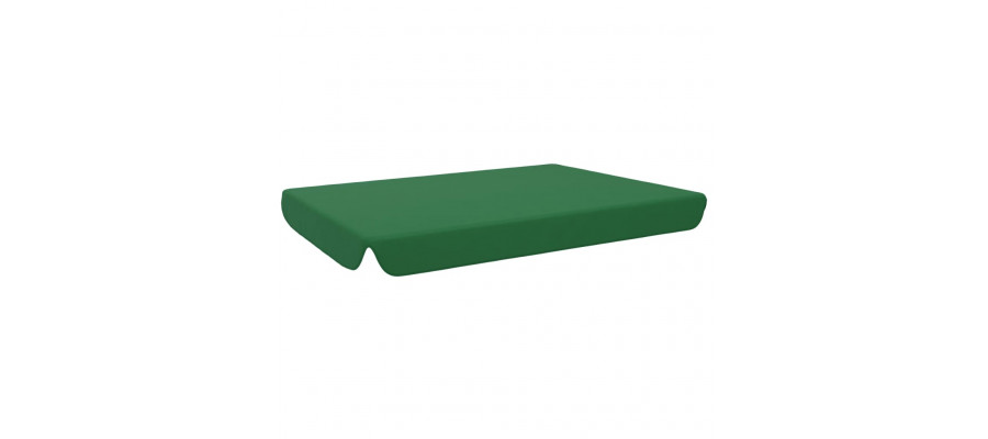Udskiftelig baldakin til havegynge 192x147 cm grøn