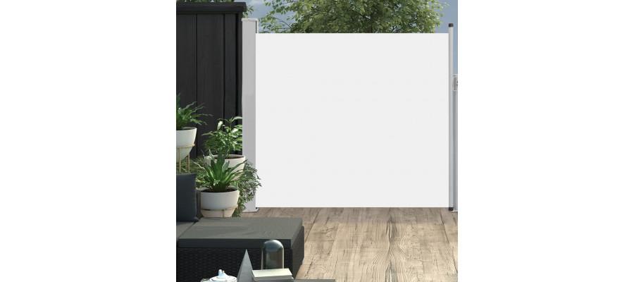 Sammenrullelig sidemarkise til terrassen 170x300 cm cremefarvet