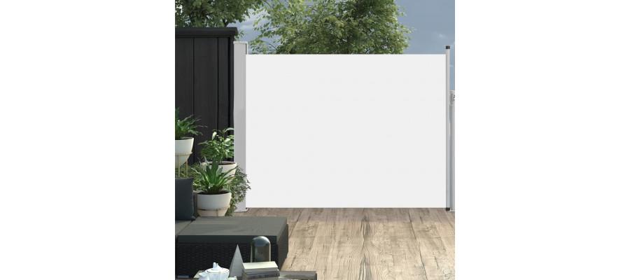 Sammenrullelig sidemarkise til terrassen 170x500 cm cremefarvet