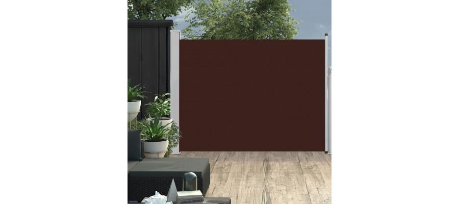 Sammenrullelig sidemarkise til terrassen 170x500 cm brun