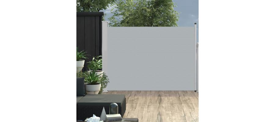 Sammenrullelig sidemarkise til terrassen 100 x 500 cm grå