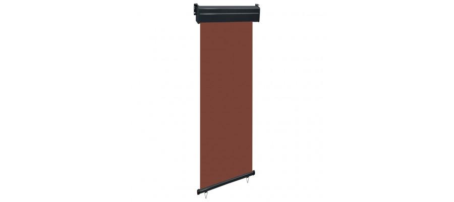 Sidemarkise til altan 60x250 cm brun