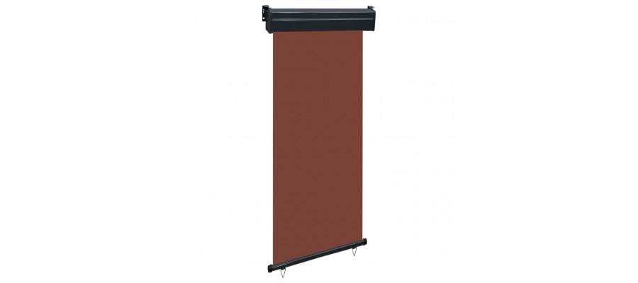 Sidemarkise til altan 80x250 cm brun