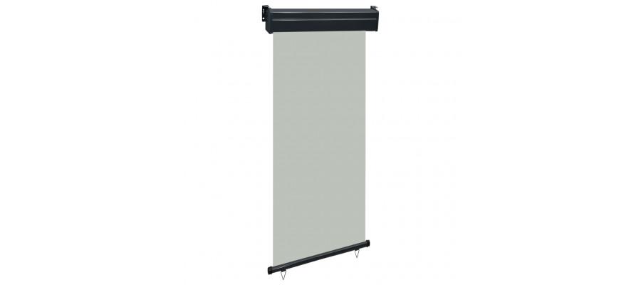 Sidemarkise til altan 100x250 cm grå