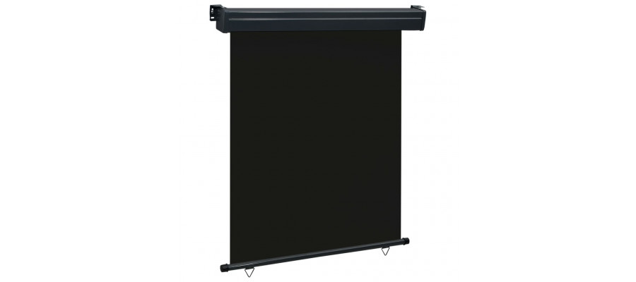 Sidemarkise til altan 140x250 cm sort