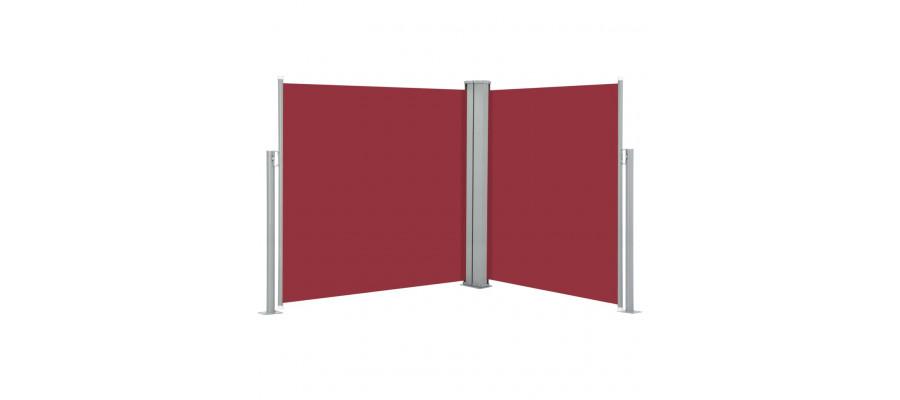 Sammenrullelig sidemarkise 140 x 600 cm rød