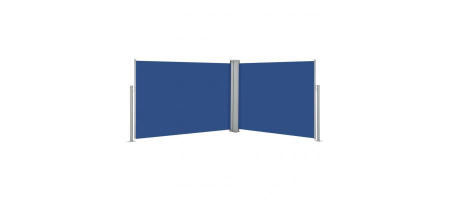 Sammenrullelig sidemarkise 120 x 1000 cm blå