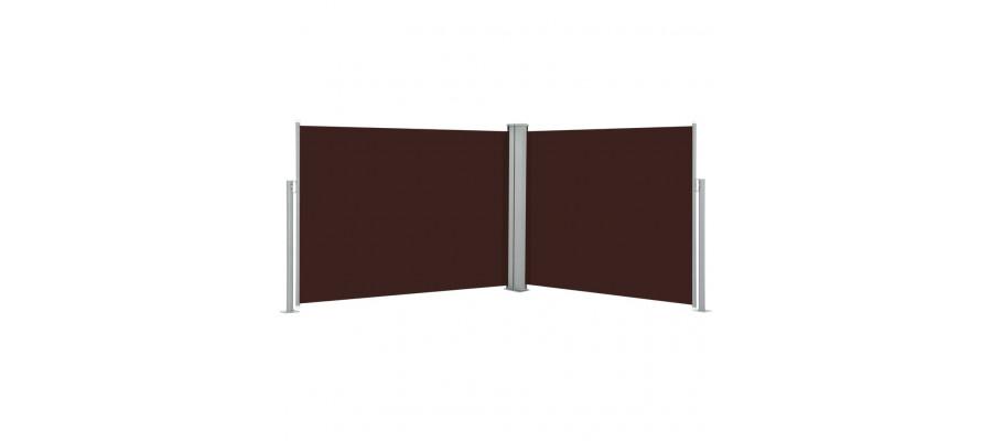 Sammenrullelig sidemarkise 170 x 1000 cm brun
