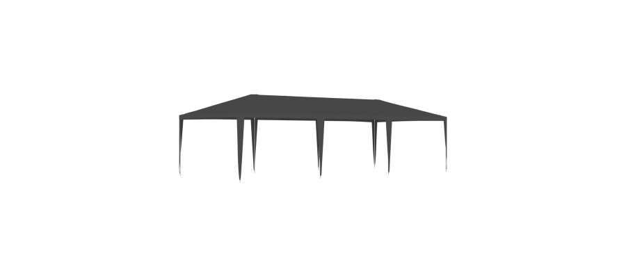 Festtelt 4x9 m 90 g/m² antracitgrå