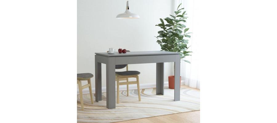 Spisebord 120 x 60 x 76 cm spånplade grå