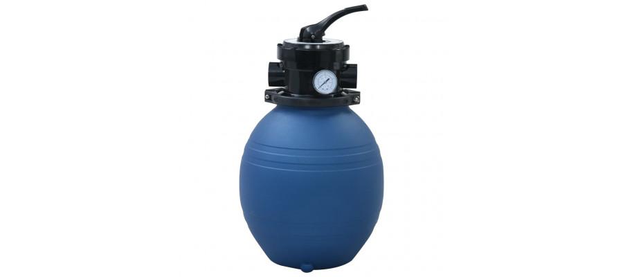 Sandfilter til pool ventil med 4 indstillinger 300 mm blå