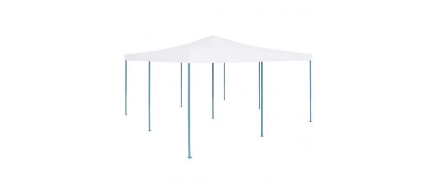 Foldbar pavillon 5x5 m hvid