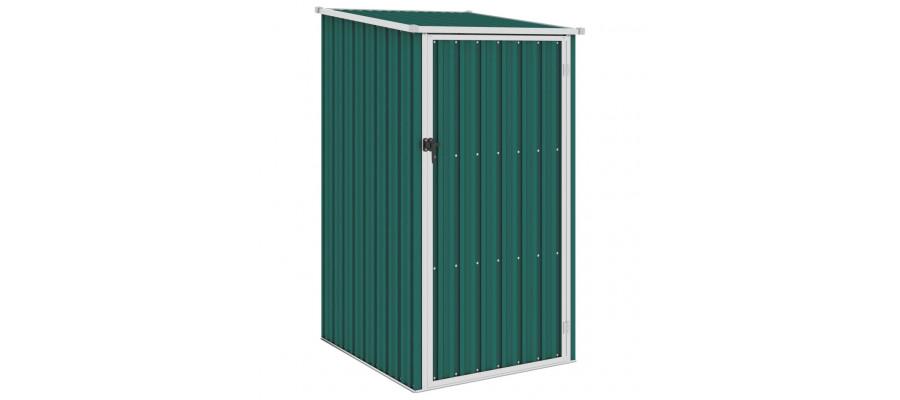 Haveskur 87x98x159 cm galvaniseret stål grøn