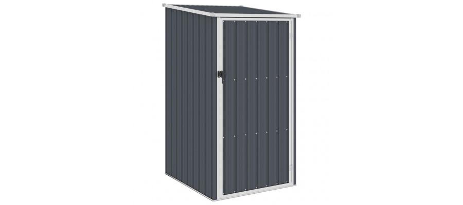 Haveskur 87x98x159 cm galvaniseret stål antracitgrå