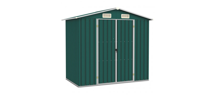Haveskur 205x129x183 cm galvaniseret stål grøn